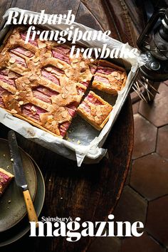 Pink forced rhubarb is a highlight of the earliest months of the year, and this traybake makes the perfect teatime treat. Get the Sainsbury's magazine recipe Tray Bake Recipes, Cooking Recipes, Cake Recipes, Fresh Fruit Cake, Fruit Cakes, Gooseberry Recipes, Sainsburys Recipes, Rhubarb And Custard, Rhubarb Recipes