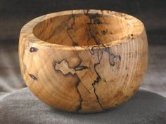 A Spalted Maple bowl turned by the Great Plains woodturners