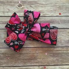 Black Valentines Headwrap