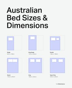 Australian Bed Sizes Mattress Dimensions Chart By Betterbed Choosing The Right Sized Can Be A Struggle Many Pers Misjudge