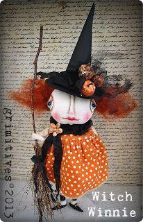 Witch Winnie - ... By doll artist Kaf Grimm of GRIMITIVES.