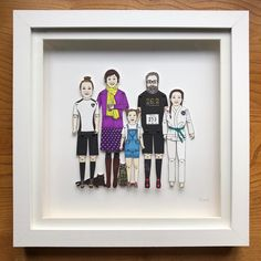 Heading off to Kent is this Deep Box Frames, Sharpie Pens, Pen And Watercolor, Portrait Illustration, Paper Dolls, My Drawings, Anniversary Gifts, Bespoke, Wedding Gifts