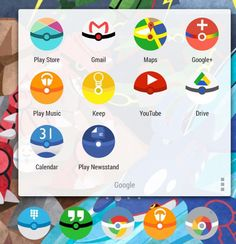 Install custom icon sets. Look, Pokéballs!! Download a smilar icon pack here and install it through any major app launcher (Nova, Apex, etc.).  You can find even more custom icon packs at /r/androidthemes.