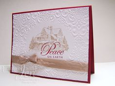 Peace card using Stampin' Up! set Christmas Lodge