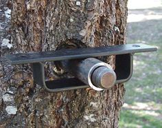 Don't use too many fasteners. One large bolt is better than many screws or nails. You get the same strength but with fewer puncture wounds to the tree. Whenever possible, perch your tree house on top of fasteners rather than pinning beams to the tree. This gives the tree room to move and grow.  Even for smaller, lighter tree houses where the load is spread over three or four attachment points, consider using 1-in.- or 1-1/4-in.-diameter lag bolts.