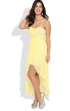 Deb Shops High Low #Prom #Dress with Sequin Bodice and Flyaway High Low Skirt $72.90