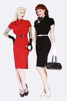 918d7bbb4fa NWT Bettie Page China Doll Black Dress Rockabilly Pinup Bombshell