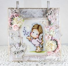 DeeDee´s Card Art - Miss You Tilda - Magnolia, Papers - MajaDesign, Embellishments - Live & Love Crafts