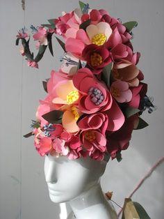 paper flower wig
