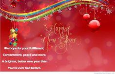 Happy new year poem on image