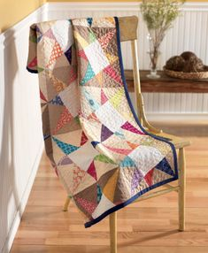 Cosmos Baby Quilt, pattern from Vintage Quilt Revival : Fresh Lemons Quilts