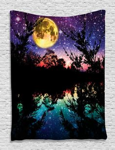 Starlit Moonlight Wall Boho Tapestry
