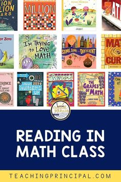 Are you reading books in your math classes? If you're not, you need to change that immediately! Whether teaching in person face to face or virtually online, books are a must. There are so many benefits to math read alouds. Here's four reasons! Reading Books, Guided Reading, Books To Read, Math Class, Math Teacher, Help Teaching, Teaching Math, Math Literature, I Love Math