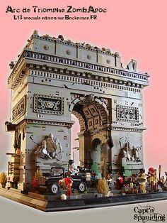 Zomb'Apoc'Arc by Captain Spaulding Lego City, Legos, Chateau Lego, Lego Zombies, Lego Boards, Amazing Lego Creations, Lego Modular, Lego Construction, Lego Castle