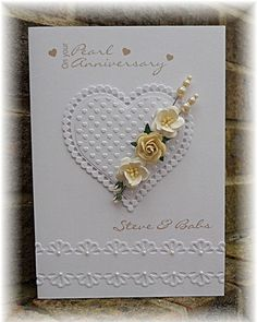 Punches and diecuts are the order of the day at LIM  this week. Now fortunately I was asked to make a pearl wedding card, and it wasn't unti...