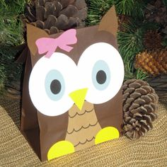 Hoot Owl Treat Sacks Woodland Forest Bird Valentines by jettabees