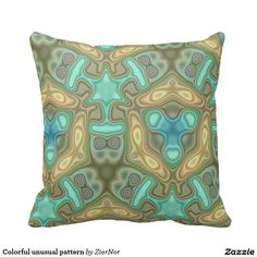 Colorful unusual pattern throw pillow
