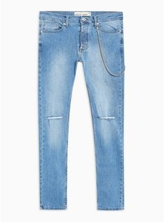570930bf4c07 Mens Powder Blue Jeans with Knee Chain Blue Jeans Mens, Trouser Jeans,  Trousers,