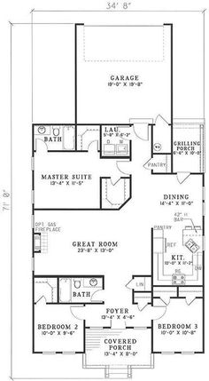 3 Bedroom, 2 Bath Traditional House Plan - #ALP-0750 - Chatham Design Group