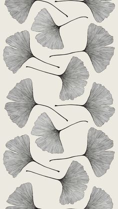 Graphic design (via fullbloom > Ginkgo 991 Black) #pattern