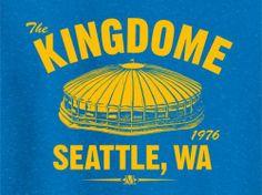 The Kingdome 1976 Baseball Tee Shirt Seattle Mariners MLB Vintage | eBay