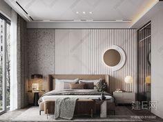 现代卧室- 建E网3d模型分享交流平台-3d模型下载-3d模型下载网站 Modern Luxury Bedroom, Master Bedroom Interior, Modern Bedroom Design, Contemporary Bedroom, Luxurious Bedrooms, Home Decor Bedroom, Master Bedrooms, Bedroom Ideas, Bedroom Wall Designs