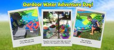 Looking for something fun to do outside with the kids? How about throw an Outdoor Water Adventure Day!  1 - gather toys, buckets & fill up kiddy pools 2 - Bring Hurricane Water Balls, Wet n' Wild Sprinklers, Max Liquidators & other Water Blasters 3 - get the kids & have a blast! Shop local or online - find more toys @ http://www.primetimetoys.com/ #outdoorfun