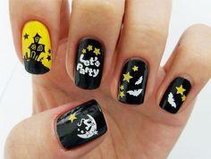 Halloween nail art designs for fashion girls.