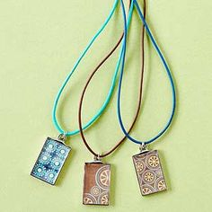 Handmade Paper Necklaces