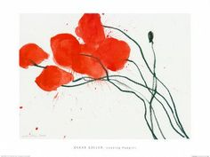 Oskar Koller, leaning poppies