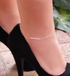 Hammered Bar Anklet, Gold, Silver or Rose Gold Ankle Bracelet, Simple and Layered by SimpleAndLayered on Etsy