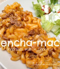 Encha-Mac - All the flavors of enchiladas with only 4 ingredients and takes less than 30 mins to make!