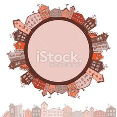Collection of houses vintage on white background Retro card. vector Royalty Free Stock Vector Art Illustration