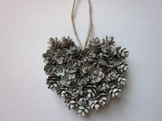 Mini #Pinecone #Heart Ornament by RedbirdCountryDecor. Great #giftidea or for topping packages!