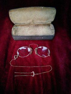 c47277d9a533 Antique Eyeglasses Prince Nez Style by AlwaysPlanBVintage on Etsy Eye  Glasses