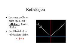 Image result for hva sier refleksjonsloven Diagram, Chart, Image, Lily
