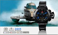 SHARK Digital Military Men Led Date Day Jp Quartz Watch SH032 >>> You can find more details by visiting the image link.Note:It is affiliate link to Amazon.