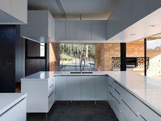 Modern kitchen design in white