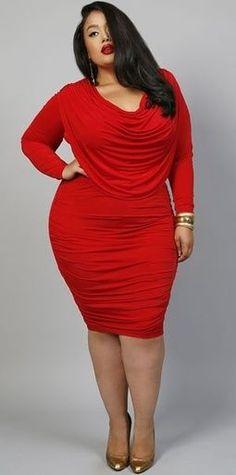 beautiful red plus size dress