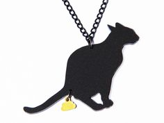 Lange ketting - The Golden Turd *CAT-edition* (black) - Een uniek product van NakedDesign op DaWanda