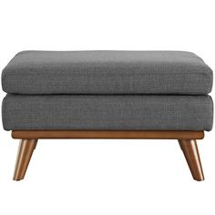 Modway Furniture Engage Fabric Ottoman In Gray - EEI-1797-DOR Free Shipping