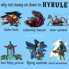 why not mosey on down to Hyrule The Legend Of Zelda, Legend Of Zelda Memes, Legend Of Zelda Breath, Twilight Princess, My Princess, Botw Zelda, Pokemon, Gamers, Link Zelda