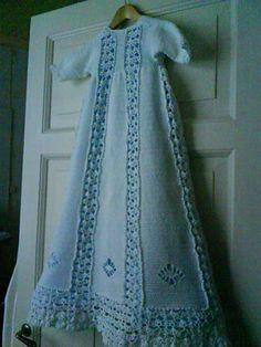 Christening gown to crochet from Sandnes Garn studios