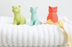 Animal towel hooks! Adorable towel hooks for color coded bath towels to keep my kids on track!