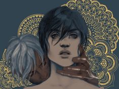 """agarthanguide: """" I swear to god I only drew Fenris and Hawke because I wanted to draw mandalas and I didn't think I could present that to the world without a figure or two in the foreground. Drawn on..."""