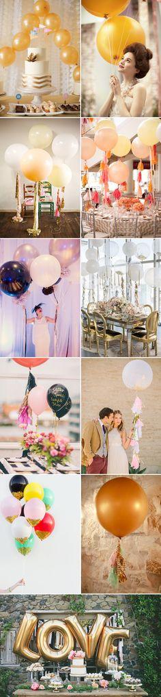 Perfecte combi: ballonnen en goud - Girls of honour