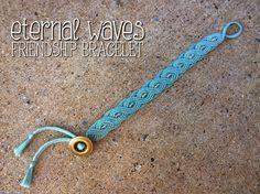 Eternal waves macrame bracelet with beads free jewelry making tutorial
