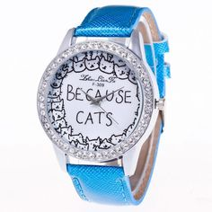 Woo Hoo!  We just listed our new Because Cats! Fas... on our store.  Have a look here! http://deloja.com/products/because-cats-fashion-wristwatch-with-faux-rhinestones?utm_campaign=social_autopilot&utm_source=pin&utm_medium=pin