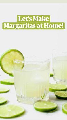 Lime Margarita Recipe, Margarita Recipes, Classic Margarita Recipe, Mint Julep Recipe Non Alcoholic, Alcohol Drink Recipes, Tequila Drinks, Alcoholic Drinks, Lime Drinks, Beverages