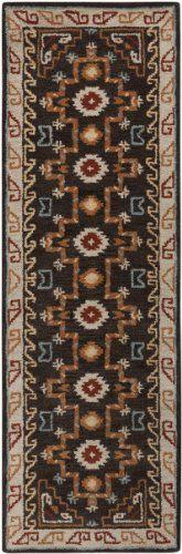 "2'6"" x 8' Runner Slate Gray Oscar Isberian Rugs Southwestern Area Rug Made In India. Hand Tufted. Runner Shape. Southwestern Style."